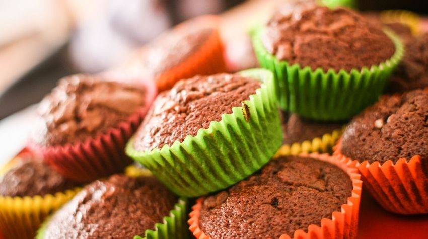 Muffiny orzechowo-marcepanowe
