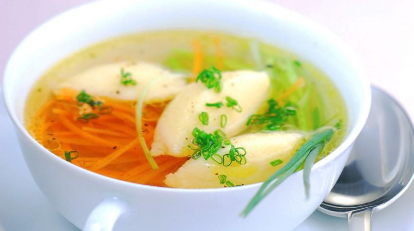 Kluski do zupy z kaszy manny