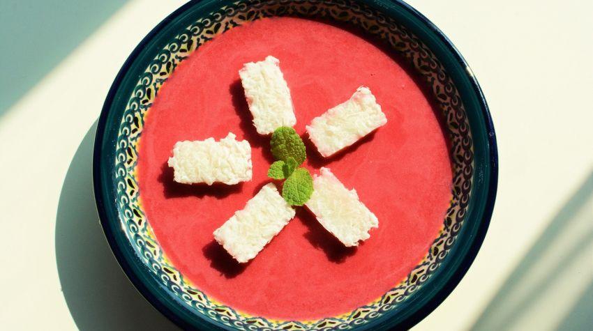 Zupa wiśniowa z mrożonym, waniliowym ryżem