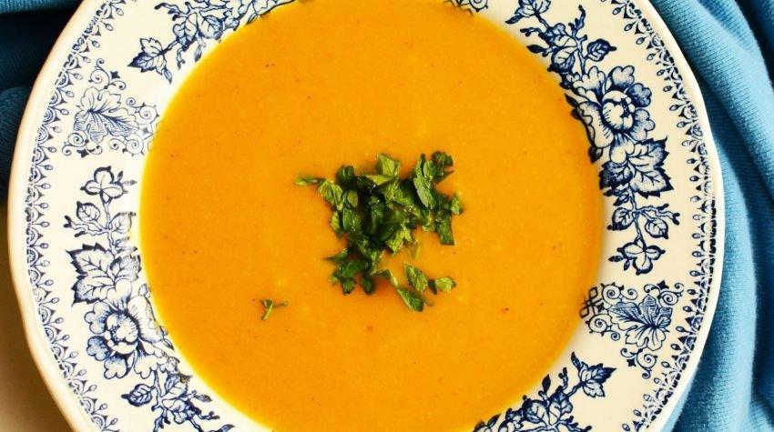 Zupa z batatów i białej rzodkwi