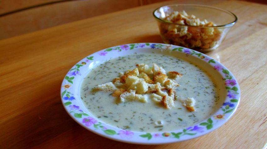 Zupa krem z ogórka