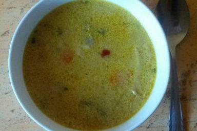Nowoczesna zupa z kurczakiem