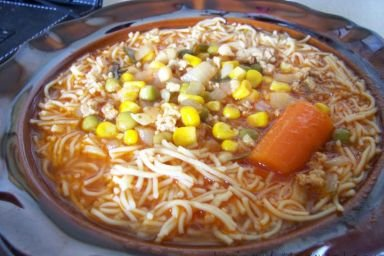 Zupa pomidorowo-meksykańska z mięsem mielonym