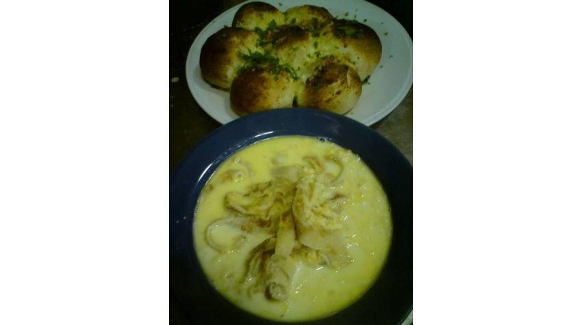 Zupa mleczna z makaronem naleśnikowym