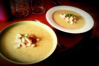Zupa z Cukinii z Bobem