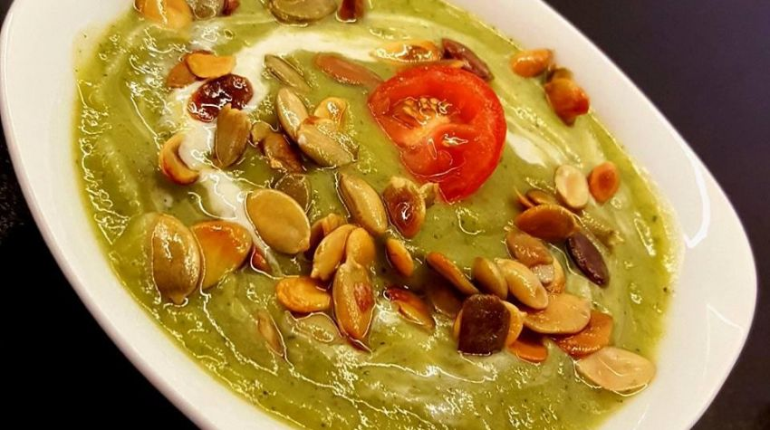 Zupa krem z cukinii z gorgonzolą