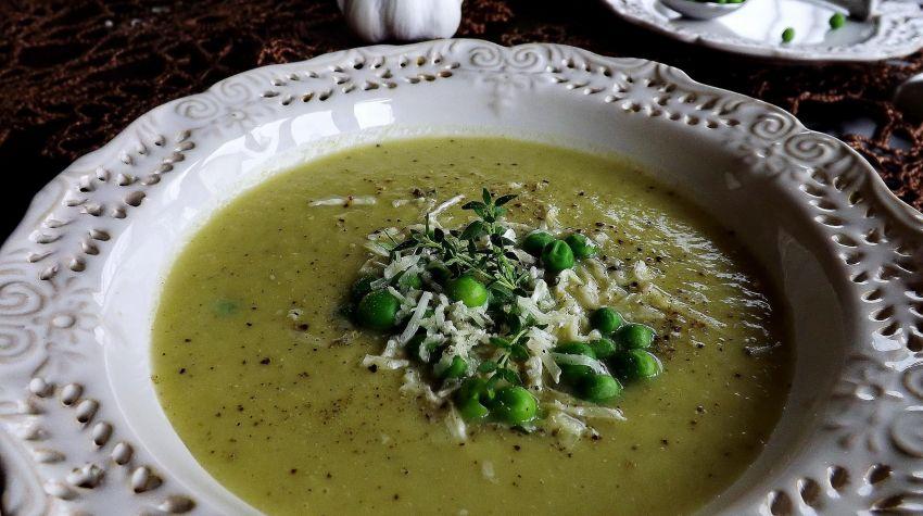 Zupa krem z pieczonego czosnku