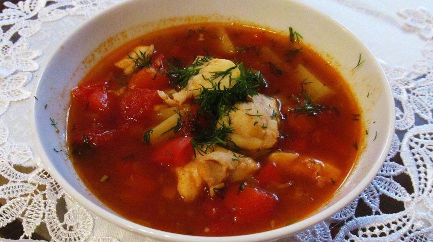 Gulaszowa zupa z dorsza