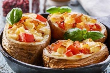Ziemniaki faszerowane z soczewicą