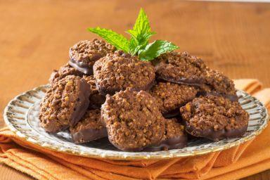 Placuszki z masłem orzechowym i czekoladą