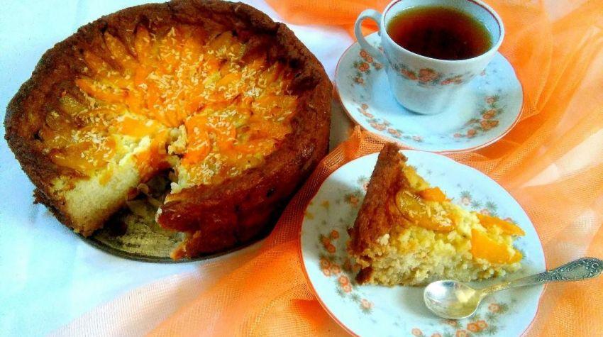 Ciasto jaglane z brzoskwiniami