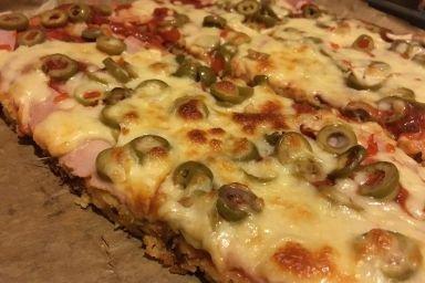 Smakowita bezcukrowa pizza :)