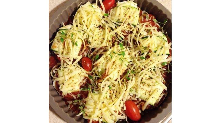 Ruloniki z cukinii i bakłażana z mozzarellą