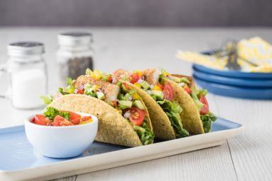 Tacos z rybą i fasolą