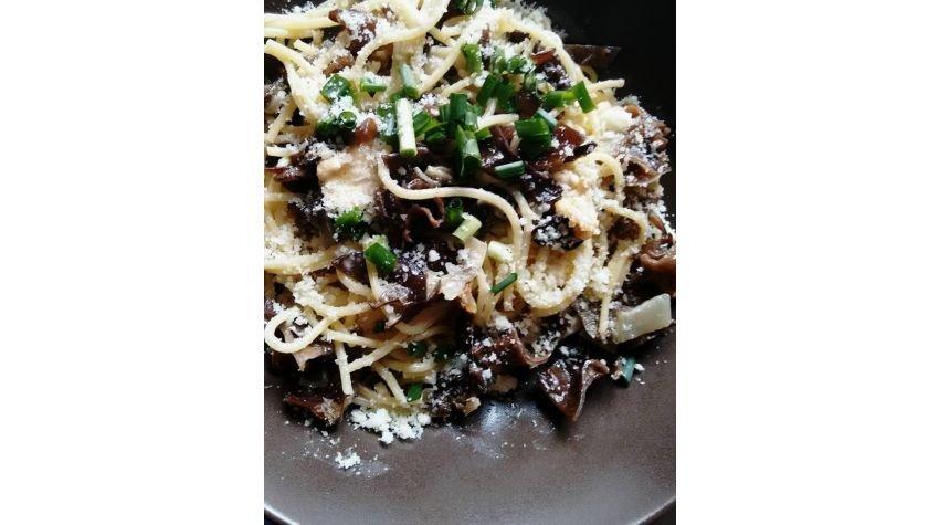 Spaghetti z grzybami Mun
