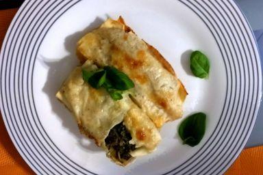 Zawijana lasagne szpinakowa lub mięsna