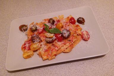 Pappardelle z sosem z gorgonzoli