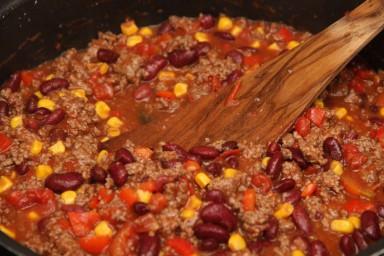 Tarta a'la chilli con carne