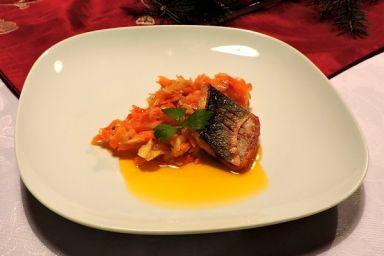 Ryba po grecku z labraksem i olejem rzepakowym