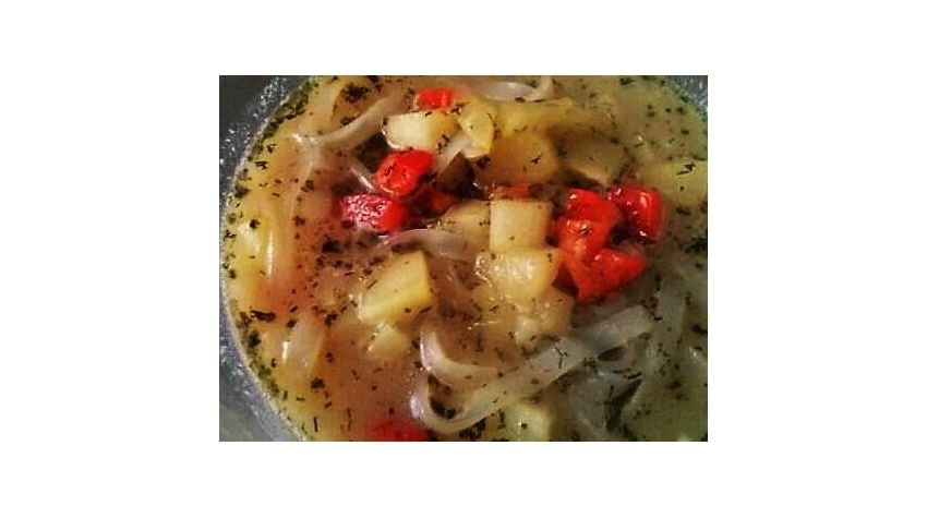Zupa z wywaru z małży
