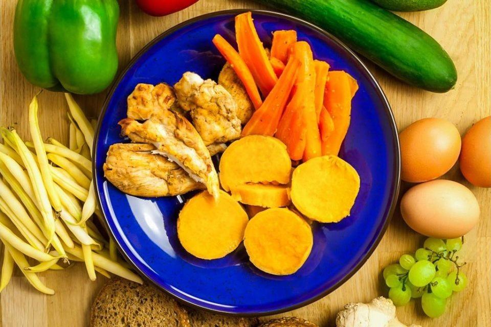 Fit Obiad Bataty Z Grillowana Marchewka I Orientalnym Kurczakiem