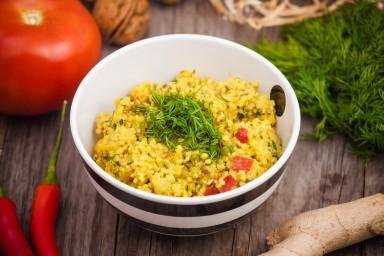 FIT OBIAD: Potrawka z kaszy jaglanej i dorsza