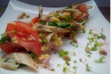 Wędzona sałatka z kaszą jaglaną