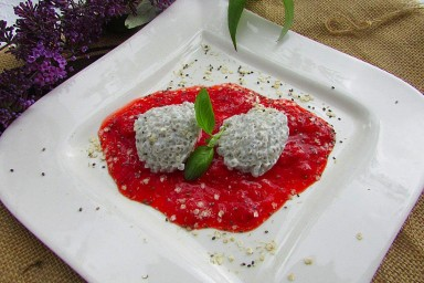 Galaretka jogurtowa z chia