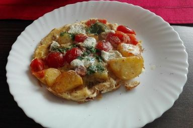 Frittata z pomidorami
