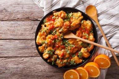 Kurczak po chińsku w sosie pomarańczowym