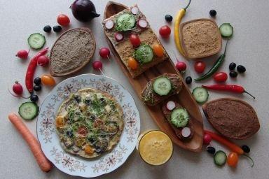 Śniadanie wegetariańskie.
