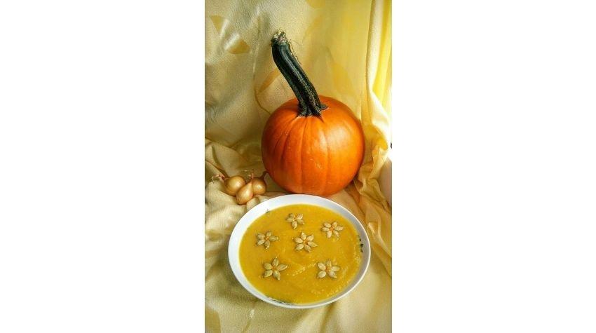Słoneczna zupa krem z dyni