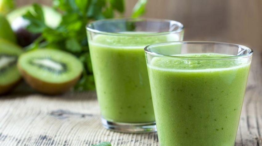 Zielony koktajl z imbirem