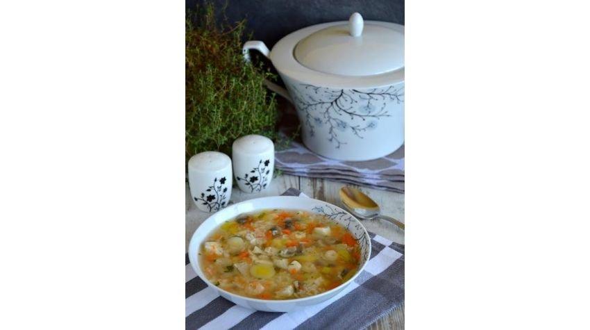 Zupa rybna z ryżem w wersji de luxe