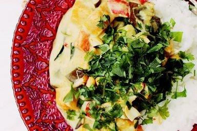 Curry z batatem, cukinią i bakłażanem