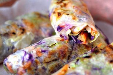 Warzywne sajgonki z indykiem -  spring rollsy