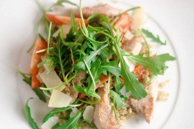 Dietetyczny obiad pierś z indyka