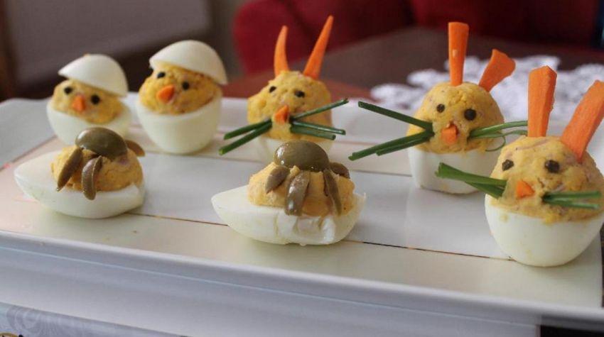 Jajka faszerowane w kształcie zwierząt