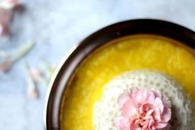 Tapioka kleista i puree z mango