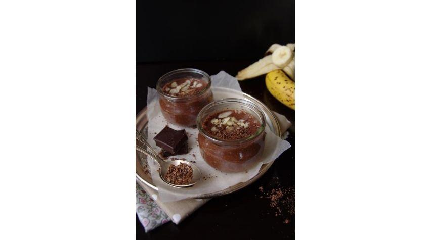 Pudding lniany z czekoladą