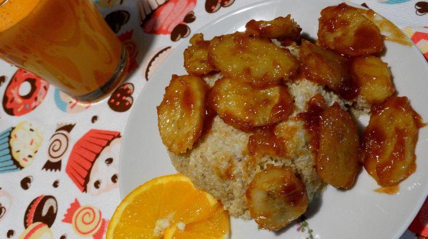 Komosa ryżowa z bananami