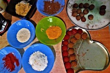 Wegańskie zdrowe pralinki- bez cukru, glutenu i laktozy