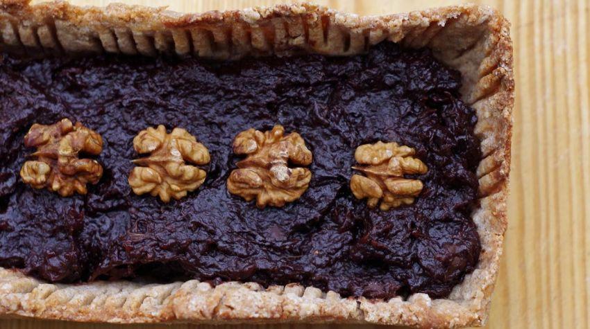 Kruche ciasto z masą czekoladową