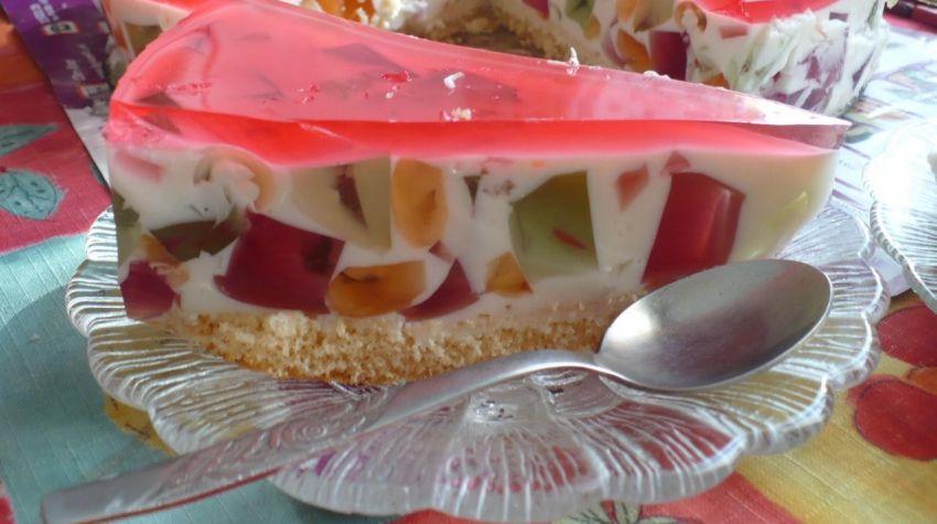 Ciasto jogurtowe z galaretką
