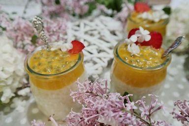 Słonecznie kokosowy pudding z tapioki