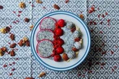 Chia z owocami - śniadanie fit