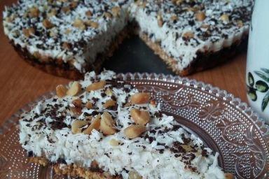 Kokosowe ciasto na kruchym spodzie