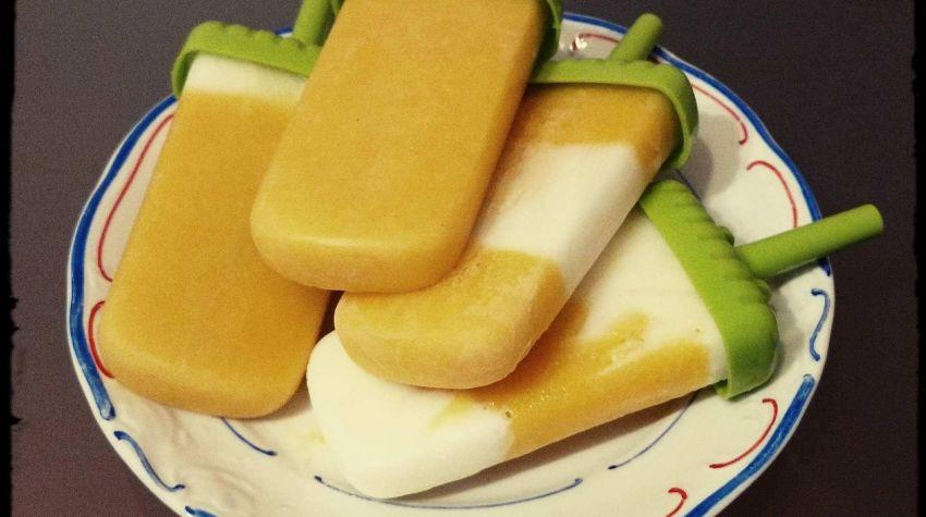 Wegańskie lody z mango i miodem