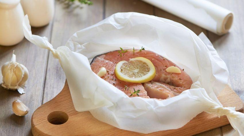 Sakiewki z łososiem
