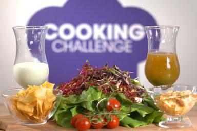 Bukiet warzywny i dip oraz koktajl jogurtowy Magdy Skowrońskiej z Cooking Challenge